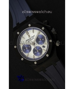 Audemars Piguet Royal Oak Chronograph Silver Toned Dial Blue Subdials Swiss Replica Watch