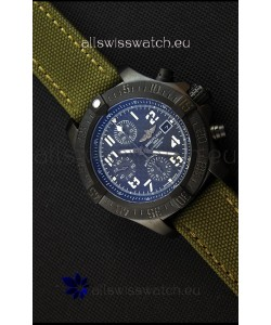 Breitling Avenger Titanium Case Swiss Replica Watch Carbon Dial 1:1 Mirror Replica Watch