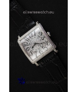 Franck Muller Master of Sqaure Ladies Quartz Replica Watch in Steel Case