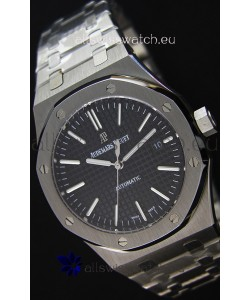 Audemars Piguet Royal Oak 41MM Black Dial Steel Strap - 1:1 Mirror Ultimate Edition