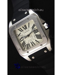 Cartier Santos De Cartier 1:1 Mirror Replica Watch 39MM Rubber Strap