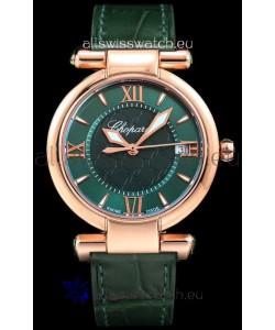 Chopard Imperiale White Dial Swiss Automatic Replica Watch in Rose Gold Case 904L Steel