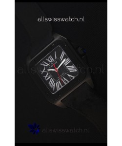 Cartier Santos DLC Swiss Replica Watch 38.5MM