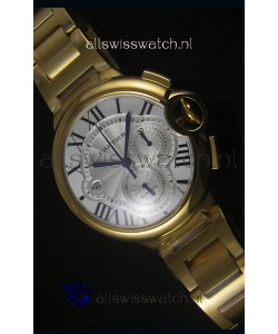 Ballon De Cartier Chronograph in Yellow Gold Case - 1:1 Mirror Replica