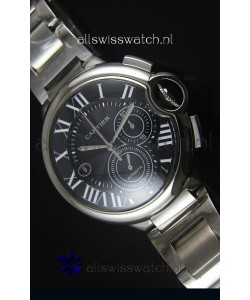 Ballon De Cartier Chronograph in Stainless Steel Case - 1:1 Mirror Replica