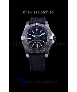 Breitling Avenger II BlackSteel GMT Swiss Replica Watch 1:1 Ultimate Swiss Replica Watch