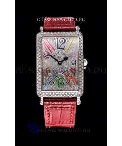 Franck Muller Long Island Color Dreams Ladies Swiss Watch in Pink Strap