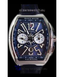 Franck Muller Vanguard Chronograph 904L Steel Blue Dial Swiss Watch