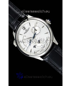 Jaeger LeCoultre Master Geographic Power Reserve 904L Steel Swiss Watch