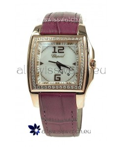 Chopard Two O Ten Ladies Swiss Replica Watch in Pink Strap