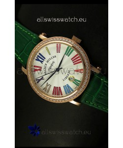 Franck Muller Master of Complications Liberty Japanese Watch in Green Strap