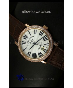 Franck Muller Master of Complications Liberty Japanese Watch in Brown Strap