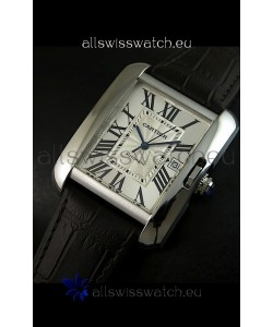 Cartier Tank Swiss Replica Watch 1:1 Mirror Replica Watch - Steel Casing