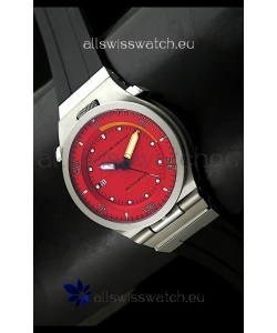 Porsche Design Diver Swiss Titanium Watch in Red Dial - Ultimate Mirror Replica