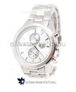 Tag Heuer Carrera Cal. 1887 Chronograph Japanese Watch in White Dial