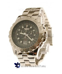 Breitling Chronograph Chronometre Japanese Watch in Black Dial