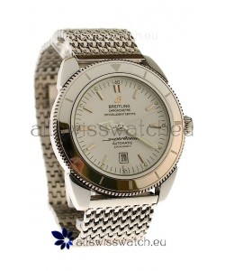 Breitling Chronometre Japanese Replica Automatic Watch in White Dial