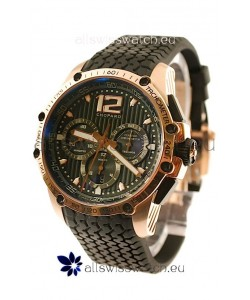 Chopard Classic Racing Superfast Swiss Replica Gold Watch in Black Dial