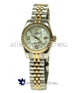 Rolex Datejust Floral Motif Ladies Swiss Replica Watch