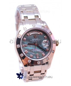 Rolex Day Date Black Mother of Pearl Japanese Replica Watch