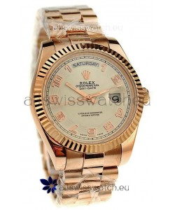 Rolex Day Date Pink Gold Japanese Replica Watch