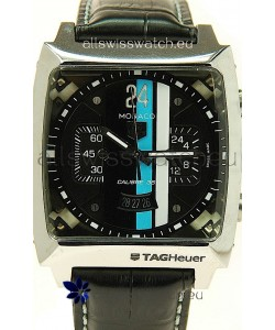 Tag Heuer Monaco Swiss Structure Japanese Replica Watch in Black Dial