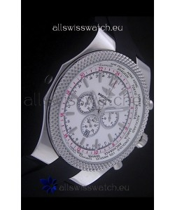 Breitling Bentley Chronograph Japanese Replica Watch in White Dial