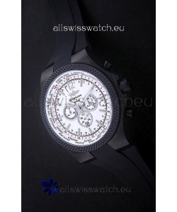 Breitling Bentley PVD Japanese Replica Watch in White Dial