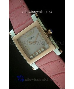 Chopard Happy Sport Swiss Replica Watch in Pink Strap