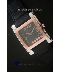 Chopard Happy Sport Swiss Replica Watch in Rose Gold Case