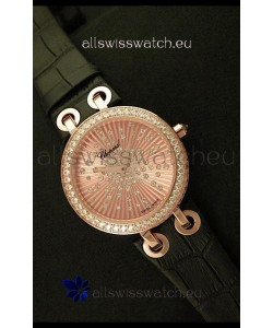 Chopard Xtravaganza Ladies Ladies Japanese Replica Rose Gold Watch in Gold Dial