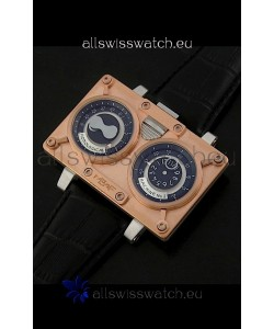 Maximilian Busser and Friends Horological Machine Watch in Pink Gold Casing