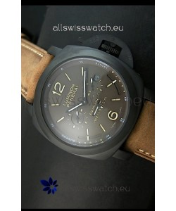 Panerai PAM365 L'Astronomo Luminor 1950 GMT Equation of Time Watch Brown Dial PVD