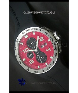 Porsche Design Flat Six P'8340 Swiss Chronograph Watch in Red Dial