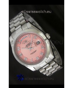 Rolex Day Date Japanese Replica Steel Watch in Champagne Dial