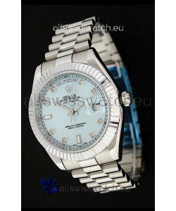 Rolex Oyster Perpetual Day Date Japanese Replica Watch in Light Green Dial