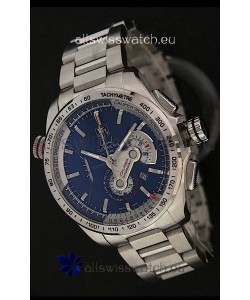 Tag Heuer Grand Carrera Calibre 36 Swiss Chronograph Watch in Blue Dial