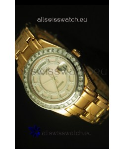 Rolex Day Date Swiss Watch in Yellow Gold Case