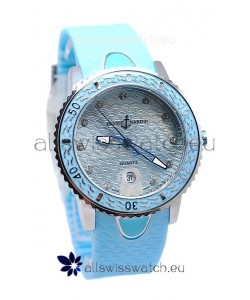 Ulysse Nardin Lady Diver Starry Night Replica Watch in Blue Dial