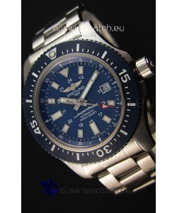 Breitling SuperOcean 44 Special Steel - Mariner Blue Swiss Replica Watch with Steel Strap