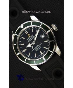 Breitling SuperOcean Heritage II B20 42MM Black Dial Green Bezel Swiss Replica Watch - 1:1 Mirror Edition