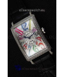 Franck Muller Long Island Color Dreams Ladies Swiss Replica Watch - Black Strap