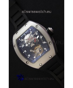 Richard Mille RM001 Evolution Tourbillon Swiss Replica Watch with Bead Blasted Satin Matte Case