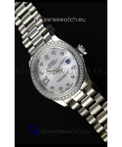 Rolex Datejust Ladies Star Diamonds Markers Swiss Watch CAL.2236 Movement 1:1 Mirror Replica