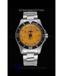 Breitling Superocean Automatic 44 Steel - Yellow Dial 1:1 Mirror Replica