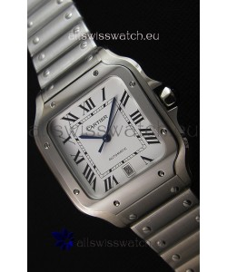 Cartier Santos De Cartier 1:1 Mirror Replica - 36MM Stainless Steel Watch