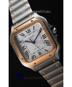 Cartier Santos De Cartier 1:1 Mirror Replica - 40MM Two Tone Steel Watch