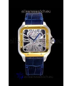 Cartier Santos DUMONT Skeleton Watch in Two Tone Bezel Swiss Replica Watch
