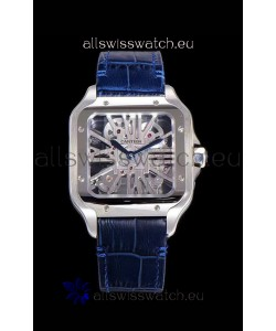 Cartier Santos DUMONT Skeleton Watch in Stainless Steel Swiss Watch