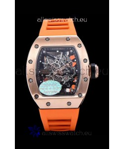Richard Mille RM035 AMERICAS 18K Rose Gold Replica Watch in Orange Strap